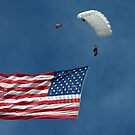 Grand Appearance of Old Glory...very fitting.. by Larry Llewellyn