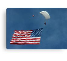 Grand Appearance of Old Glory...very fitting.. Canvas Print