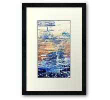 abstraction,Liquid Sky Framed Print