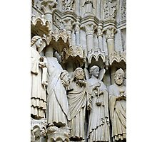 Statues, exterior, Amiens cathedral, France Photographic Print