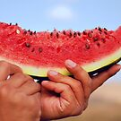 piece of watermelon by Iuliia Dumnova