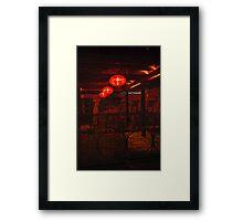 red fairy-lights Framed Print