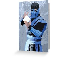 Sub Zero Cutout Greeting Card