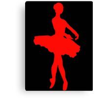 Scarlet Ballerina Canvas Print