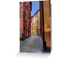 Alley Way II - (The Old City) Stockholm, Sweden Greeting Card