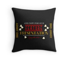 Movie theater Feature Presentation Throw pillow Throw Pillow
