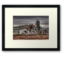 Mining Landscape Framed Print