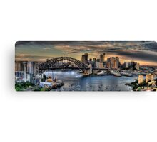 Sydney Moods (20 Exposure HDR Panorama) - The HDR Experience Canvas Print