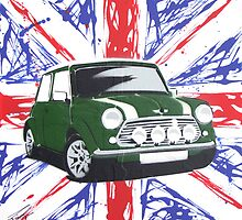 British Mini 01 Painting by Richard Yeomans