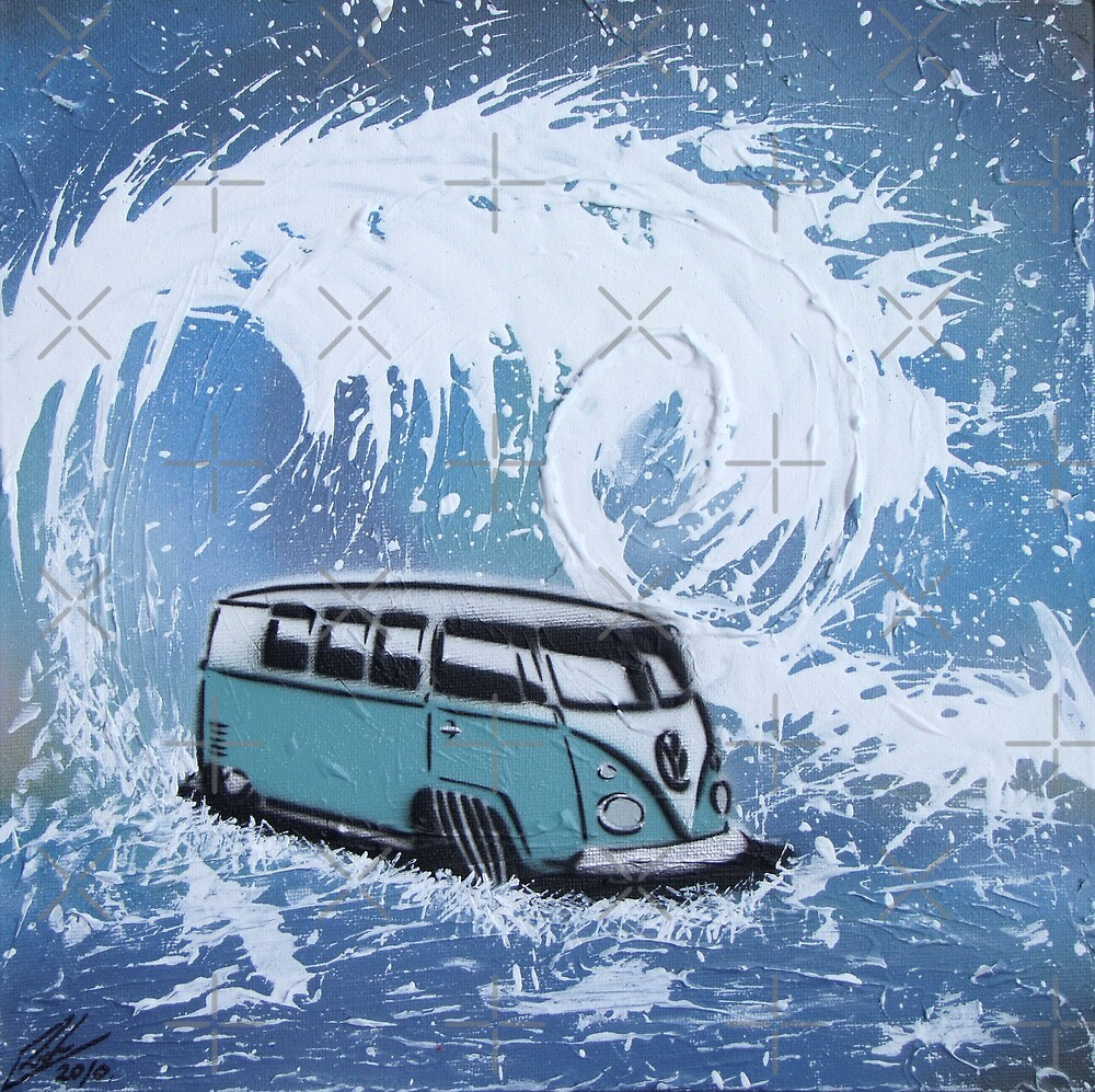 Splitty Wave 01 Painting by Richard Yeomans
