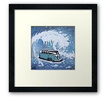 Splitty Wave 01 Painting Framed Print