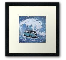 Splitty Wave 01 Painting Framed Print