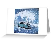 Splitty Wave 01 Painting Greeting Card