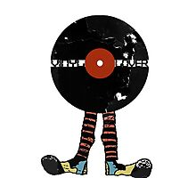 Funny Vinyl Records Lover - Grunge Vinyl Record Notebooks and more Photographic Print