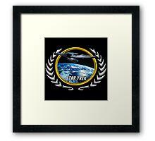 Star trek Federation of Planets Enterprise Refit Framed Print