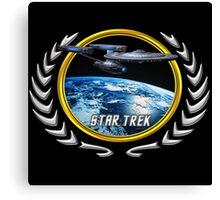 Star trek Federation of Planets Enterprise Refit Canvas Print