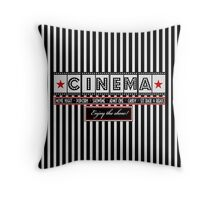 Movie theater Striped Cinema Ticket Throw Pillow Throw Pillow