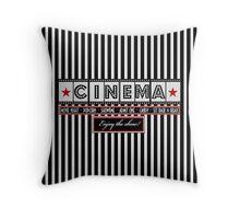 Movie theater Striped Cinema Ticket Throw Pillow Throw Pillow