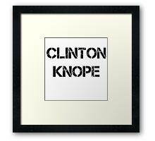 CLINTON KNOPE HILLARY CLINTON LESLIE KNOPE Framed Print