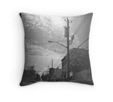 Telephone pole love Throw Pillow