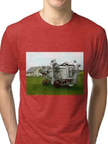 OLD THRESHING MACHINE Tri-blend T-Shirt