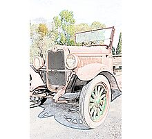 Unloved Vintage Car Photographic Print