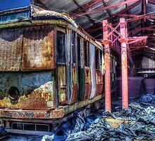 Derilict tram #1 by shaynetwright