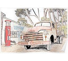 Old Truck at the Garage Poster