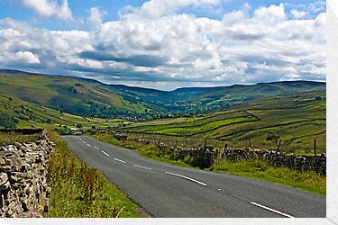 The Road to Muker  (Yorks Dales) by Trevor Kersley