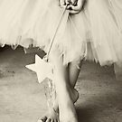 Ballerina Toes, Black & White- Little Girl in a Tutu by sunrisern