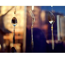 spoon and fork Photographic Print