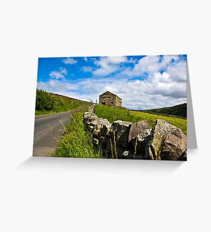 Along The Rural Road Greeting Card