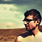 guy in glasses by Iuliia Dumnova