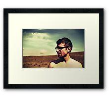 guy in glasses Framed Print