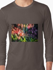 Painted Tulips Long Sleeve T-Shirt