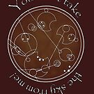 """You can't take the sky from me!"" in Gallifreyan by reddesilets"