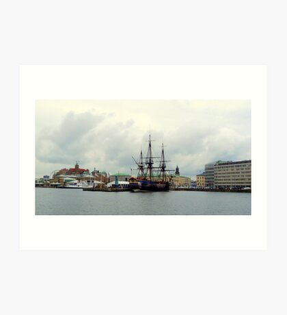 "The East Indiaman ""Götheborg"" in Gothenburg Harbour Art Print"