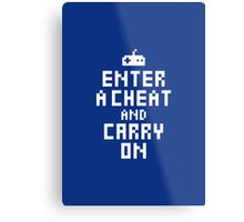 Keep Calm and Carry on Gaming2 Metal Print