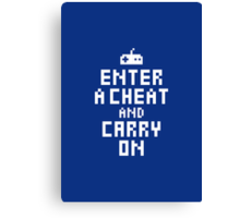 Keep Calm and Carry on Gaming2 Canvas Print
