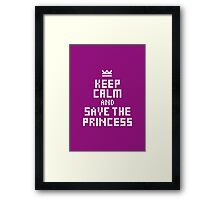 Keep Calm and Carry on Gaming5 Framed Print