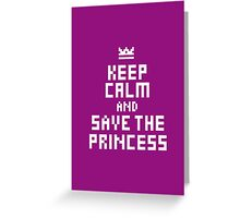 Keep Calm and Carry on Gaming5 Greeting Card