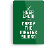 Keep Calm and Carry on Gaming7 Metal Print
