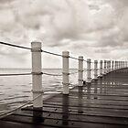 Belize. Ocean pier. by geofflackner