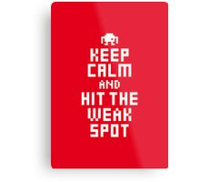 Keep Calm and Carry on Gaming8 Metal Print