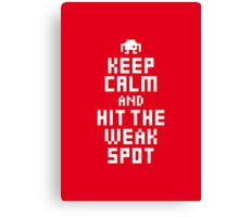 Keep Calm and Carry on Gaming8 Canvas Print