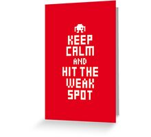 Keep Calm and Carry on Gaming8 Greeting Card