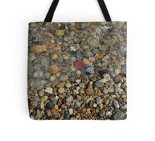 Lake Michigan Beach Pebbles Tote Bag