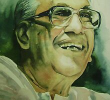 Portrait - Watercolor by Praveen Nair