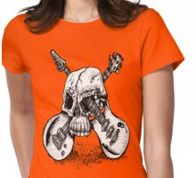 Skull and crossed guitars Womens Fitted T-Shirt