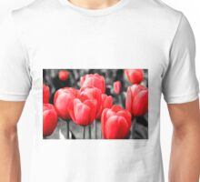 Abstract Pink Tulips Oil Painting Unisex T-Shirt